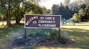 St. Luke's Playground is open to the community